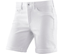 Jeansshort Damen white denim