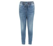 Jeans mit elastischem Bund blau