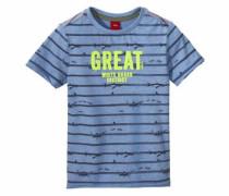 s.Oliver RED Label Junior T-Shirt taubenblau / neongrün / schwarz