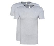 T-Shirt im 2er-Pack mit Rundhalsausschnitt 'Base' grau