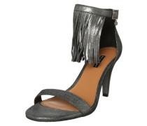 Sandalette mit Fransen schwarz