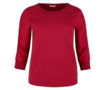 Sweatshirt mit Chiffonärmeln rot