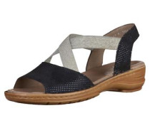Sandalen dunkelblau / silber