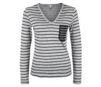 Besticktes Garment Dye-Shirt grau