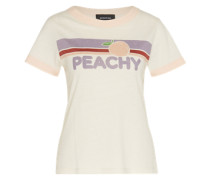 T-Shirt 'peachy' weiß