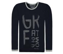 Langärmliges T-Shirt blau