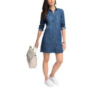 EDC BY ESPRIT Jeanskleid mit durchgehender Knopfleiste blau