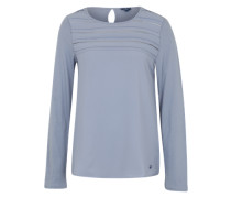 Shirt mit Lochmuster blau