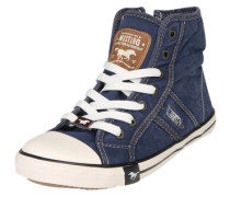 Hohe Sneaker aus Canvas blue denim