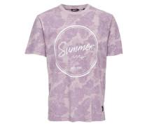 T-Shirt Bedrucktes lila