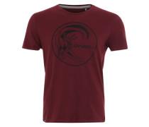 Print-Shirt mit Label-Aufdruck rot