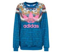 Sweatshirt 'borbomix' blau / mischfarben / pink