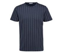 Gestreiftes T-Shirt nachtblau