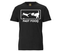 """T-Shirt """"fast Food"""" schwarz / weiß"""