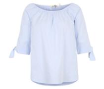 Blusenshirt im Offshoulder-Stil hellblau / weiß