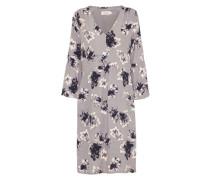 Midi-Kleid 'Cleanne Print' grau / schwarz / weiß