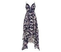 Kleid 'pallida' aubergine / weiß