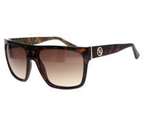 Sonnenbrille karamell / dunkelbraun