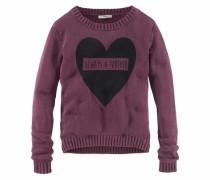 Pullover mit Frontdruck für Mädchen rot