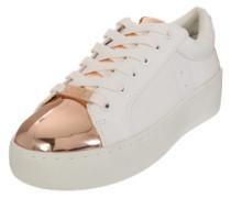 Plateau-Sneaker 'Bertie-M' rosegold / weiß
