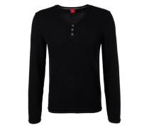 Pullover aus Strukturstrick schwarz