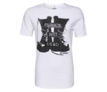 Print Shirt 'rockaway' weiß