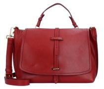 Dalston Handtasche Leder 37 cm rot