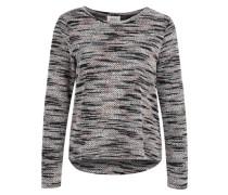 Leichter Pullover in Bouclé-Optik grau