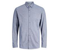 Button-under-Langarmhemd grau
