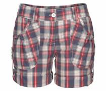 Shorts beige / rauchblau / rot