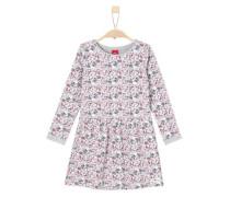 Kleid im Millefleurs-Design grau / pastellrot