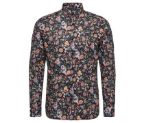 Blumenprint Hemd