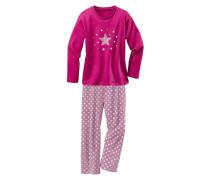 Pyjamas (2 Stck.) pink / weiß