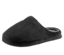 Pantoffel schwarz