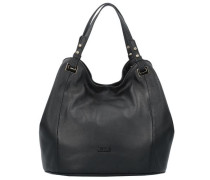 Elisa Handtasche aus Leder 30 cm schwarz