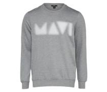Sweatshirt '' grau / weiß