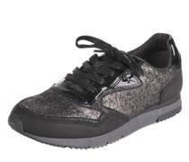 Sneakers mit Metallic-Design schwarz
