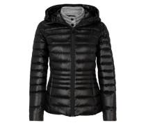 Glänzende Light Down-Jacke schwarz