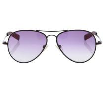 Sonnenbrille rotviolett / schwarz