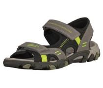 'Sandalen' grau / neongrün / schwarz