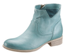 Boots im trendigen Used-Look blau