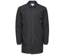 Mantel Tech dunkelblau / schwarz
