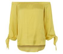 Schulterfreie Bluse 'El Sol Top' gelb