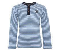Shirt 'B tee ls Harwich str' navy / weiß