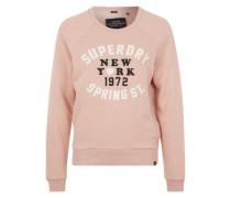 Sweatshirt mit Labelstickerei pink