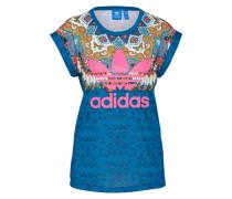 T-Shirt 'borbomix' royalblau / pink