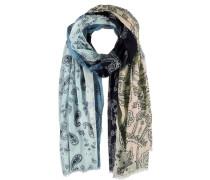 Baumwoll Schal blau