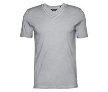 T-Shirt im Shaped Fit dunkelgrau