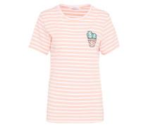 T-Shirt 'ac1199' rosa / weiß