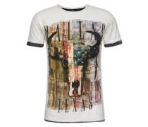 T-Shirt 'MT Cowboys round' mischfarben / weiß